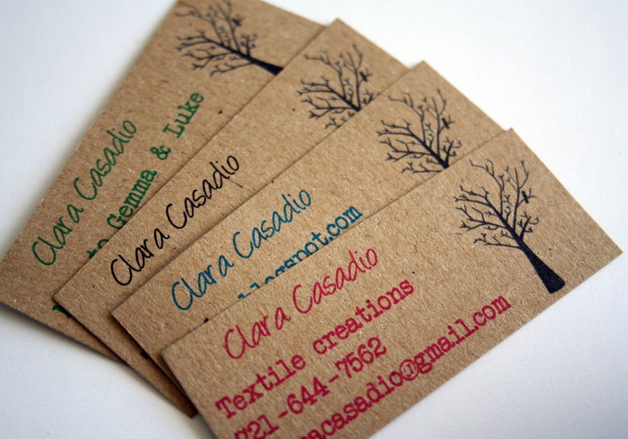 recycled-Kraft-paper-Business-Cards - The Print Shop