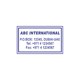 NORMAL BIG SIZE (RECTANGLE) STAMP
